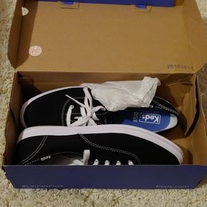 Keds Champion Black Canvas Shoes